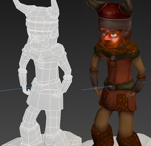 Creación de un modelo 3D para videojuegos