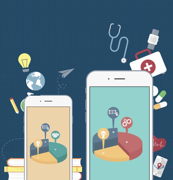 Infografía: Beneficios de las apps por sectores