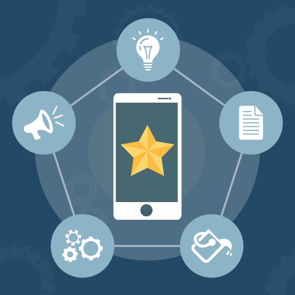 Infografía: 5 pasos para crear una app de éxito